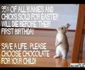 Do not give live animals for Easter.