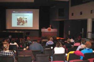 Attendees at workshop on puppy mills and pet stores.