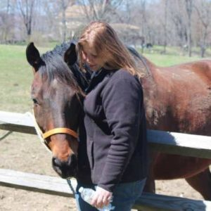 Colleen Segarra with Brown Horse
