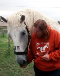 Colleen Segarra with Retired Carriage Horse