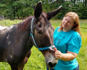 Colleen Segarra of Equine Rescue Resource (ERR) and Randy